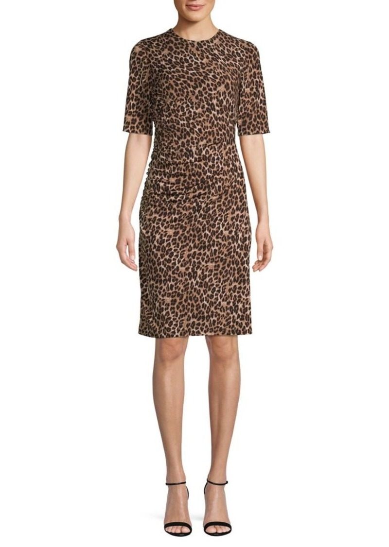 Vince Camuto Cheetah-Print Sheath Dress