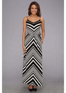 Vince Camuto Chevron Blouson Maxi Dress