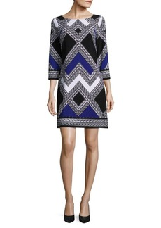 Vince Camuto Chevron Colorblock Shift Dress