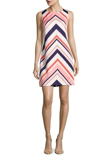 Vince Camuto Chevron Sleeveless Dress