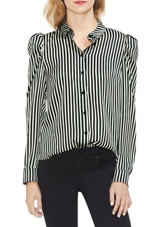 Vince Camuto Chic Stripe Crepe Blouse