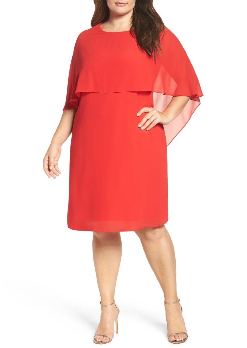 d9928d16d263 On Sale today! Vince Camuto Vince Camuto Chiffon Cape Sheath Dress ...