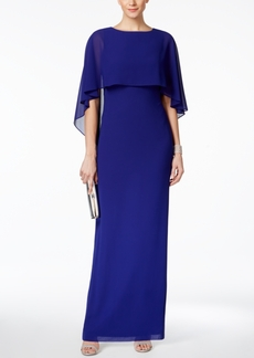 Vince Camuto Chiffon Capelet Gown