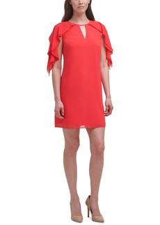 Vince Camuto Chiffon Flutter-Sleeve Dress