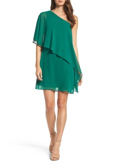 Vince Camuto Chiffon One-Shoulder Dress (Regular & Petite)