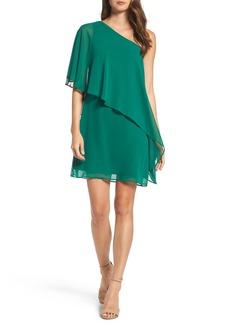 Vince Camuto Chiffon One-Shoulder Dress (Regular & Petite)