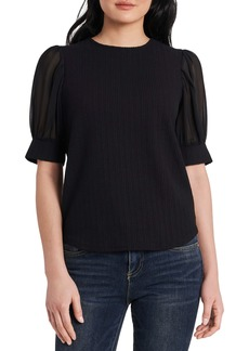 Vince Camuto Chiffon Puff Sleeve Top