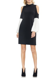 Vince Camuto Chiffon Sleeve A-Line Dress