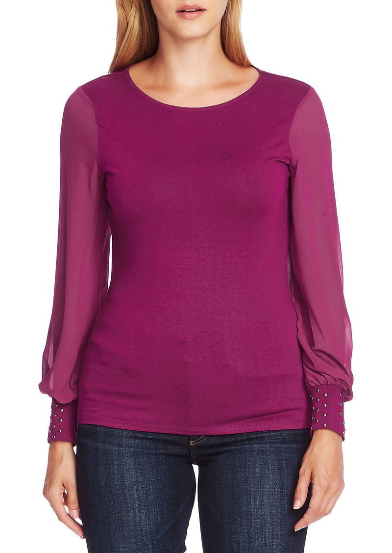 Vince Camuto Chiffon Sleeve Knit Top