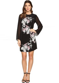 Vince Camuto Chiffon Sleeve Winter Gerland Dress