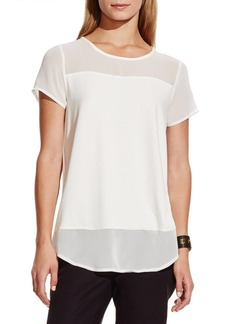 Vince Camuto Chiffon Yoke Short Sleeve Top