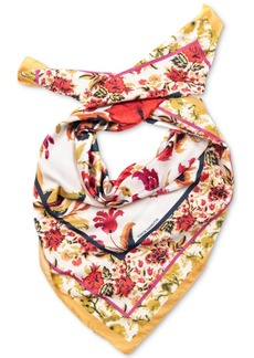 Vince Camuto Chintz-Border Floral-Print Square Scarf