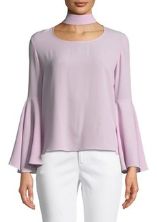 Vince Camuto Choker Bell-Sleeve Blouse