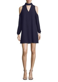 Vince Camuto Choker Cold-Shoulder Dress