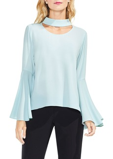 Vince Camuto Choker Neck Bell Sleeve Blouse