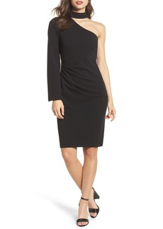 Vince Camuto Choker One-Shoulder Dress