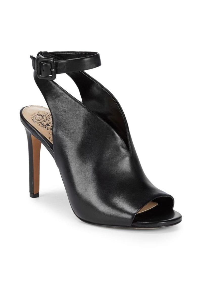 Ciara Leather Peep-Toe Heels - 49% Off!
