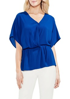Vince Camuto Cinch Front Stretch Crepe Blouse