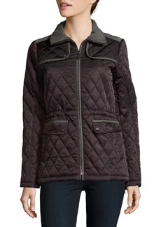 Vince Camuto Cinch Waist Quilted Coat