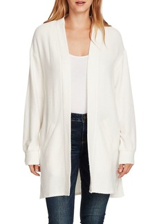 Vince Camuto Cinched-Back Cable Knit Open Cardigan
