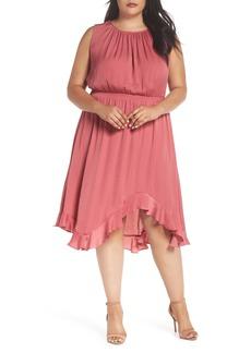 Vince Camuto Cinched Chiffon Maxi Dress (Plus Size)