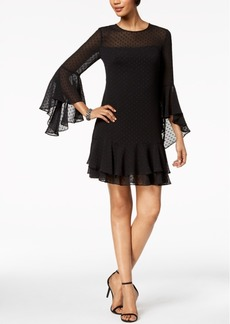 Vince Camuto Clip-Dot Chiffon Dress