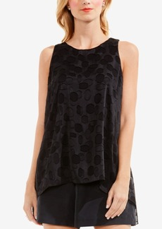 Vince Camuto Clip Dotted High-Low Hem Top