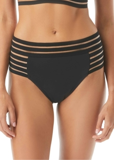 Vince Camuto Coast Lines Strappy Mesh High-Waist Bottoms Women's Swimsuit
