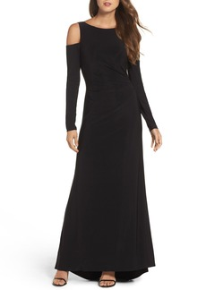 Vince Camuto Cold Shoulder A-Line Gown (Regular & Petite)
