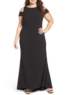 Vince Camuto Cold Shoulder A-Line Gown (Plus Size)