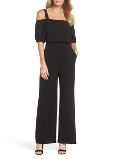 Vince Camuto Cold Shoulder Blouson Jumpsuit (Regular & Petite)