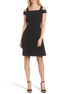 Vince Camuto Cold Shoulder Crepe Dress (Regular & Petite)