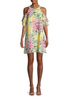 Vince Camuto Cold-Shoulder Day Dress
