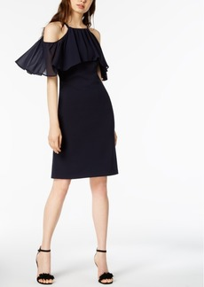 Vince Camuto Cold-Shoulder Flounce Dress