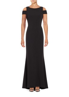 VINCE CAMUTO Cold-Shoulder Gown