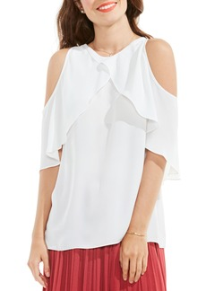 Vince Camuto Cold Shoulder Ruffled Blouse