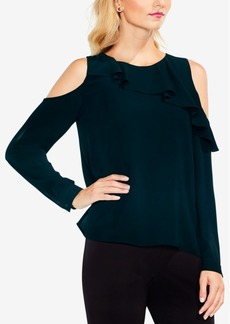 Vince Camuto Cold-Shoulder Ruffled Top