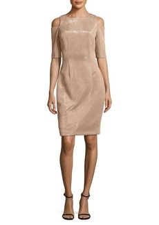 Vince Camuto Cold-Shoulder Sheath Dress
