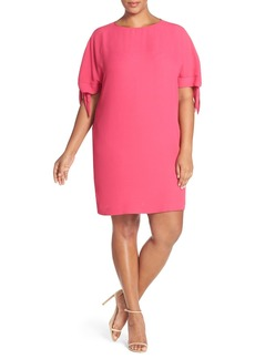 Vince Camuto Cold Shoulder Shift Dress (Plus Size)