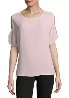 Cold-Shoulder Soft Texture Blouse