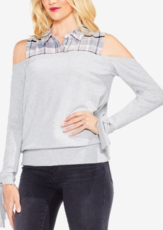 Vince Camuto Cold-Shoulder Sweatshirt
