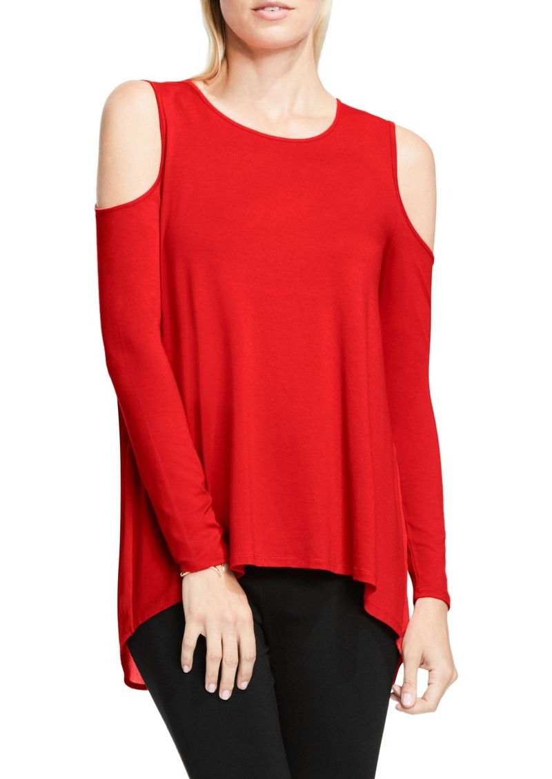 Vince camuto vince camuto cold shoulder top casual for Vince tee shirts sale