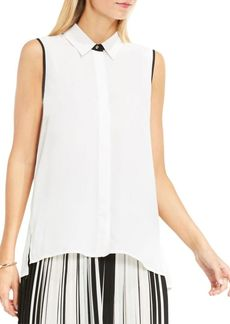Vince Camuto Collared Button Down Blouse