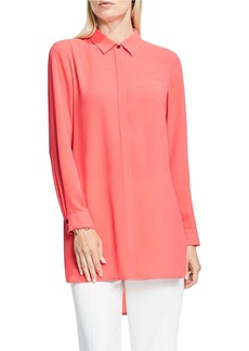 VINCE CAMUTO Collared Tunic Blouse