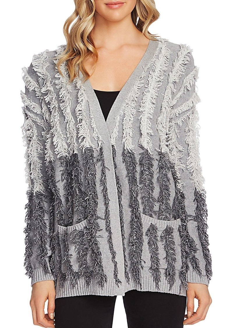 VINCE CAMUTO Color-Block Fringe Cardigan