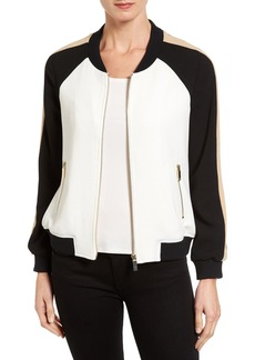 Vince Camuto Colorblock Bomber Jacket