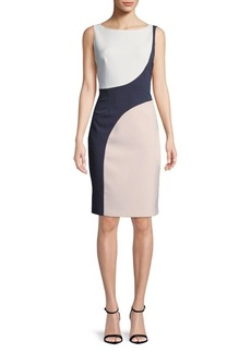 Vince Camuto Colorblock Knee-Length Dress