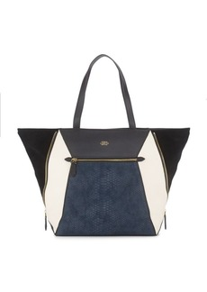 Vince Camuto Colorblock Leather Tote