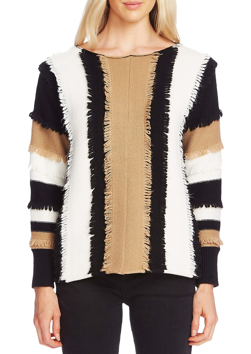 Vince Camuto Colorblock Loop Stitch Sweater