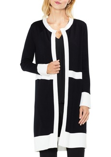 Vince Camuto Colorblock Open Front Cardigan